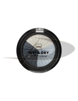 Fard ochi Hema Wet & Dry Eyeshadow Culoare Alb/Albastru