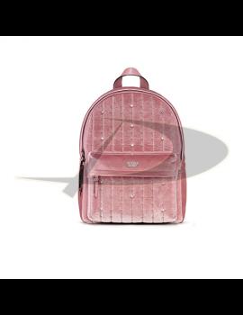 Rucsac Victoria's Secret catifea roz