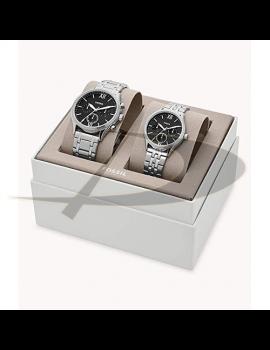 Set ceas dama si barbati Fossil BQ2469